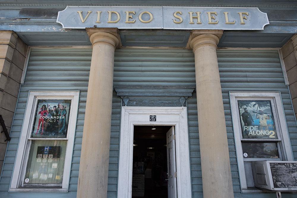 video shelf