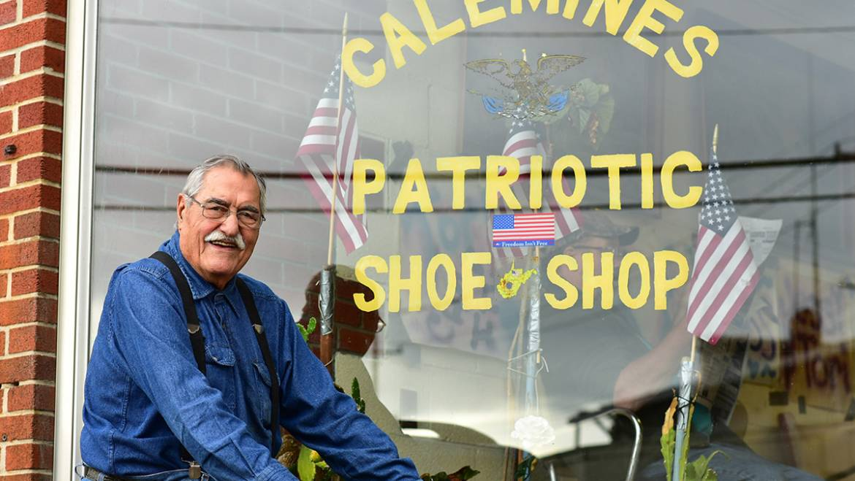 Calemine's Patriotic Shoe Repair Shop