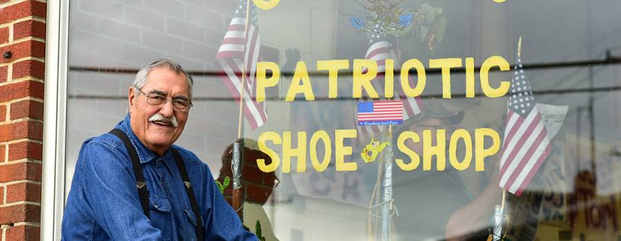 Calemine's Patriotic Shoe Repair Shop