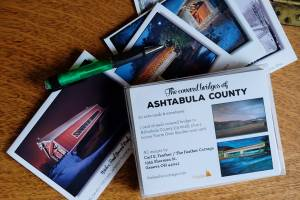 20 note cards of Ashtabula County covered bridges