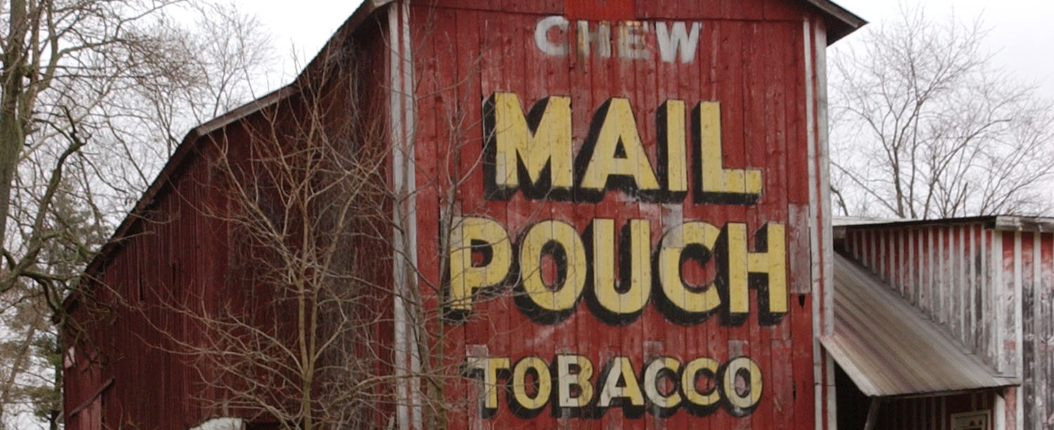 Mail Pouch barn detail