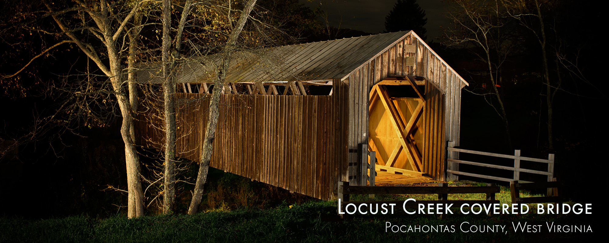 Locust Creek Covered Bridge West Virginia The Feather Cottage